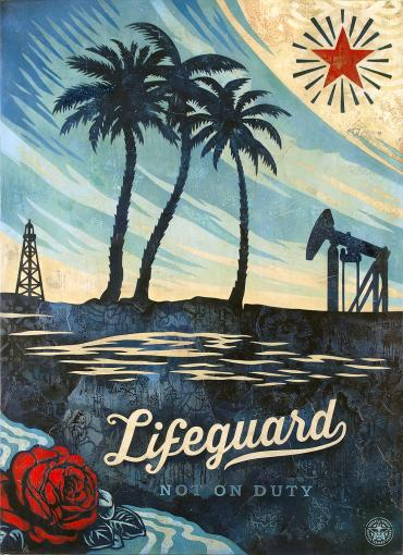 LIFEGUARD NOT ON DUTY © OBEY GIANT ART/SHEPARD FAIREY
