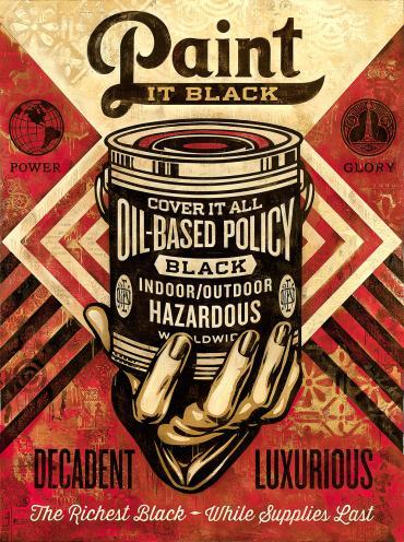 PAINT IT BLACK HAND © OBEY GIANT ART/SHEPARD FAIREY