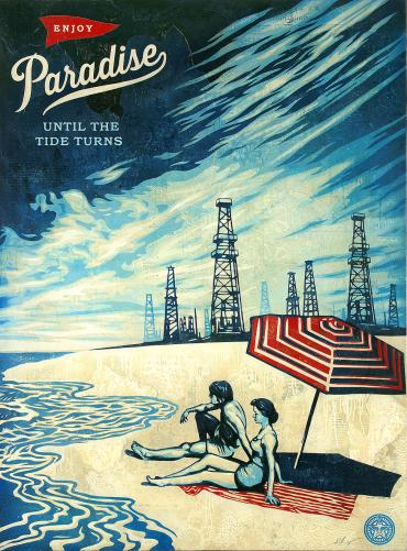 PARADISE TURNS © OBEY GIANT ART/SHEPARD FAIREY