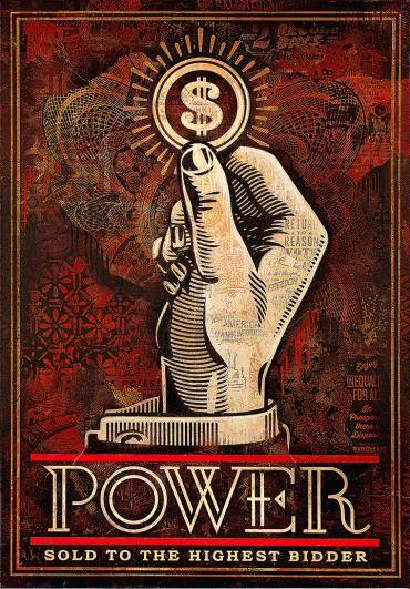 POWER BIDDER © OBEY GIANT ART/SHEPARD FAIREY