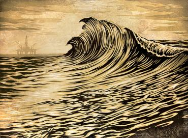 WATER IS THE NEW BLACK © OBEY GIANT ART/SHEPARD FAIREY
