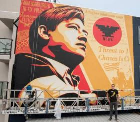 Mural of Cesar Chavez by Shepard Fairey